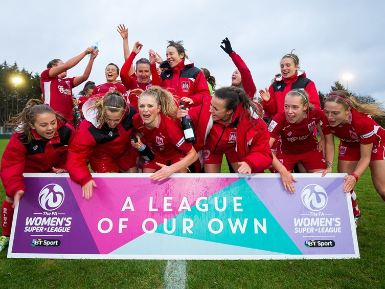 Bristol City Women Support International Women's Day